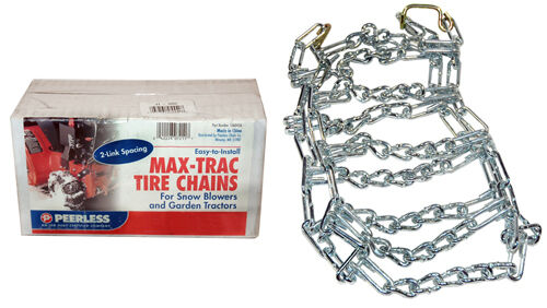 Max Trac Snowblower Snowthrower Zinc Plated Tire Chains 15 X 6.00 X 6