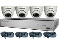 cctv kit NVR 1080p 4 x Full HD POE Dome Cameras