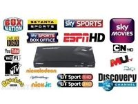 OPEN BOX V8S ALL SKY CHANNELS ASIAN SKY MOVIES SPORTS 1 YEAR SUBSCRIPTION