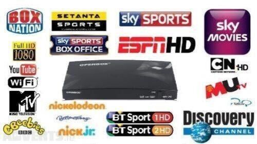 Openbox sky live tv HD plug and play over 900 channels not firestick android box open boxin Clayton, West YorkshireGumtree - Contact number is 0750255816007502558160.....07502558160(CAN DELIVER) 900 channels inc sk sports sk movies bt sports Ppv sk movies music kids Asian international etc. All in top quality too. Open box v8s Changes channel just like an original Sky box....