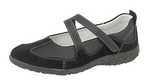 womens ladies extra wide eee fit velcro leather casual