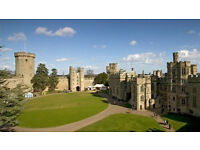 Warwick Castle tickets for 6th 7th 13th 16th 29th August 1st September