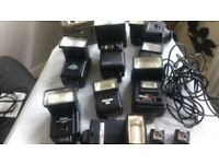 JOB LOT FLASHES, SPEED LITE, PHOTOGRAPHY LIGHTS