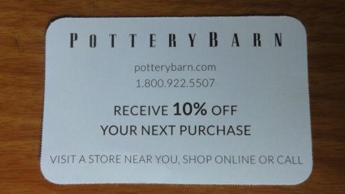 Pottery Barn Coupon Ebay