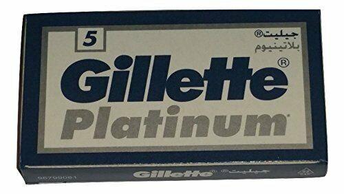 50 GILLÈTTE Platinum Double Edge Razor Blades Made in Russi
