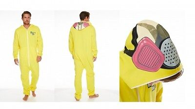 Breaking Bad Jumpsuit (Breaking Bad 'Cooksuit' Yellow Hooded Mens Large Jumpsuit Brand New Gift)