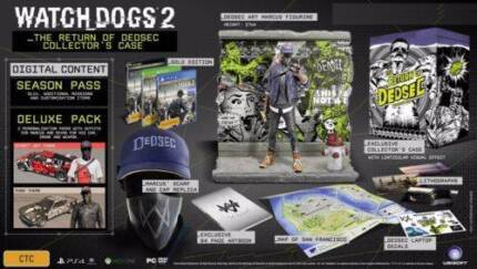 WATCH DOGS 2 - THE RETURN OF DEDSEC COLLECTOR'S CASE
