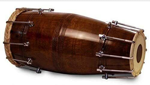 Best Sale Naal Bolt Tuned Pro Quality Sheesham Wood for Bhajan Kirtan Yoga Dhola