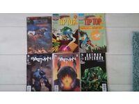 Bulk of 6 Batman and Superman Comics
