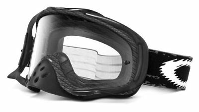 Used, Oakley Crowbar Graphic Frame MX Goggles True Carbon Fiber Clear Lens One Size for sale  USA