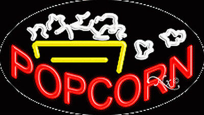 New Popcorn 30x17 Oval Solidflash Real Neon Sign Wcustom Options 14367