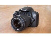 Canon EOS 1300D 18.0MP Digital SLR Camera - Black (Kit w/ EF-S IS II 18-55mm)