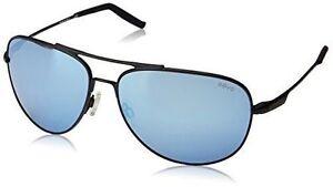 665265e8601 REVO Windspeed Sunglasses Matte Black Frame Blue Water 61mm Lenses Serilium