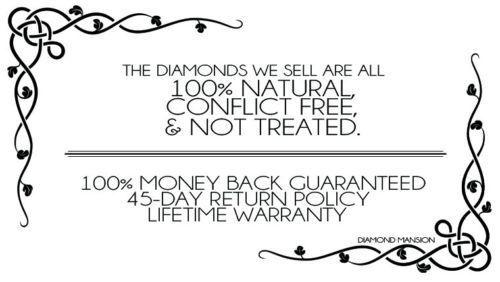 Natural Round Cut Halo Split Shank Pave Diamond Engagement Ring 1
