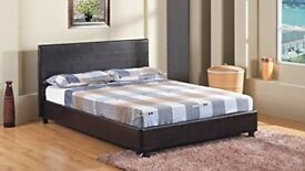 ✔️✔️✔️ BEST SINCE 1900 ✔️✔️✔️ FAUX LEATHER DOUBLE SIZE BED FRAME 📢📢DISCOUNTED MATTRESS📢📢