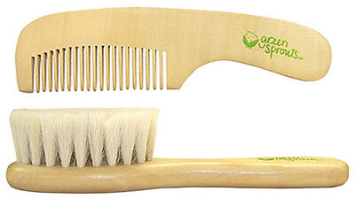 Green Sprouts Natural Wood (Green Sprouts Natural Bristles Wooden Baby Brush & Wood Comb Set - 157596 )