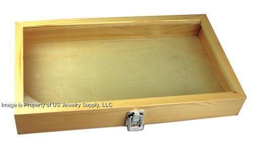 Wood Display Case   eBay