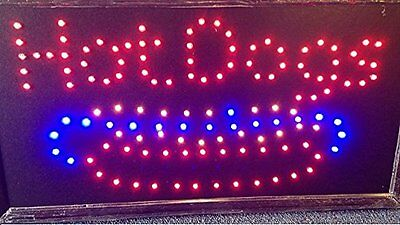 1019 Animated Motion Led Hot Dogs Sign Onoff Switch Bright Open Light Neon