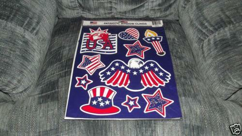 Patriotic Window Clings Home Amp Garden Ebay