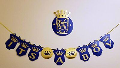 Its A Boy Banner W Wall Sign Prince Baby Shower Decorations For Royal BLUE