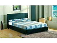🟦✔️Quick Delivery 🟦✔️(4ft6inch) Double & (5ft)King Size Leather Bed Frame W Opt Mattress