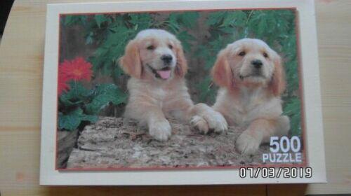 Puzzle Tierpuzzle 2 Welpen Titel Unzertrennlich 500 Teile Hunde Tiere