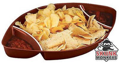NFL College Football Chip And Dip Serving Tray Plastic Super Bowl Party Platter