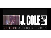 4 x J Cole tickets Manchester. ONO!