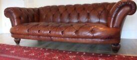 Stunning Tetrad Oskar large leather chesterfield sofa.