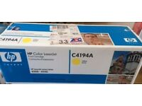 GENUINE HP Color Laserjet Printer YELLOW Toner Cartridge (C4194A) Sealed in box