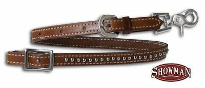 Studded Medium Leather Wither Strap Tiedown Barrel Racing BONUS 2 Trigger Snaps!