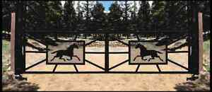 CUSTOM GATES/ARCHWAYS/Ranch Style entrances