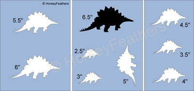 NEW-Dinosaur D~Shapes STENCIL~ DIY U Paint Kids Prehistoric Animal Reptile Play