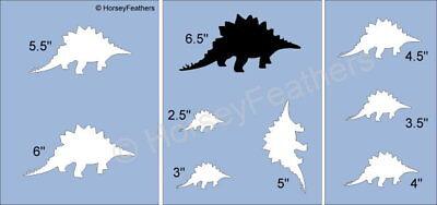 NEW-Dinosaur D~Shapes STENCIL~ DIY U Paint Kids Prehistoric Animal Reptile Play