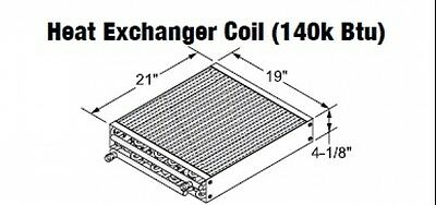 Central Boiler Heat Exchanger Coil 140k Btu
