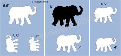 NEW-Baby Elephant~Shapes STENCIL~DIY U Paint Animal Zoo Nursery Kids Calf Herd