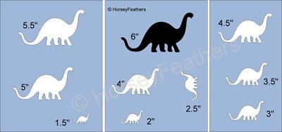 NEW-Dinosaur C~Shapes STENCIL~ DIY U Paint Kids Prehistoric Animal Reptile Play