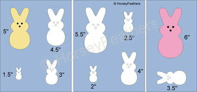 NEW~Rabbits D Peeps Shapes STENCIL~Animal Candy Bunny DIY UPaint  Easter Yummy