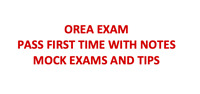 Orea Exam noted and Mock Exam with detail answers updated 2018