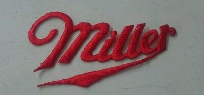 Brand new Miller beer logo embroidery red jacket iron on patch NOS