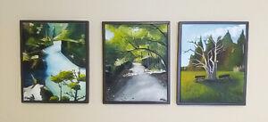 Original Landscape Oil Paintings - Set of Three