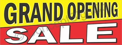 3'x8' GRAND OPENING SALE BANNER LARGE Outdoor Sign Now Open New Store Retail Big