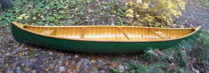 Professionally Handcrafted Cedar Strip Canoe