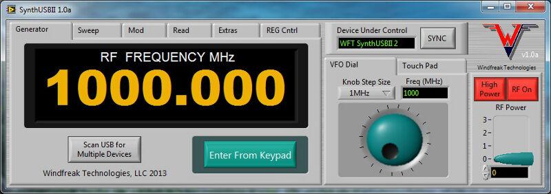 4.4 GHz RF Synthesizer Signal Generator (USB)