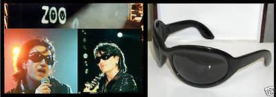 Bono Zoo Concert Sunglasses Black Oversize Frames