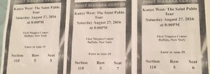 Selling 3 tickets to the kanye west tour at Buffalo for $200!!