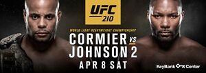 UFC 210 Cormier vs Johnson Keybank Center 4 seats together