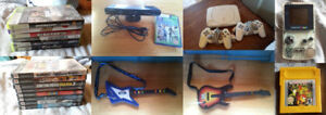 Selling Video Game Lot: Playstation, XBox 360, Guitars & More