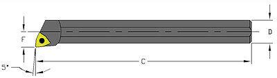 14 Steel Boring Bar .275minimum Bore 3-12 Long Coolant Thru Ultra-dex Usa