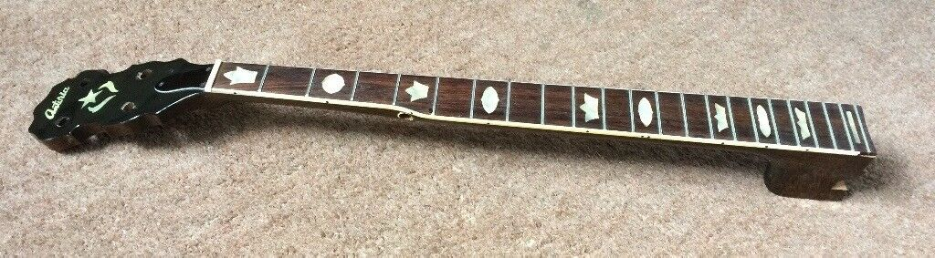 5 string Banjo neck Japanese Antoria brand  Mahogany, solid rosewood  fingerboard  Perloid inlays   in Newcastle, Tyne and Wear   Gumtree